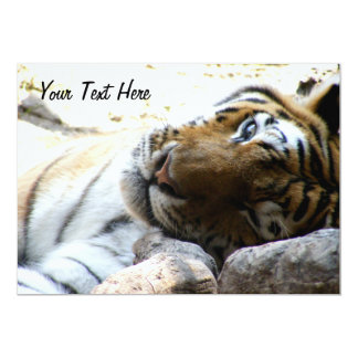 "Winking Tiger 5"" X 7"" Invitation Card"