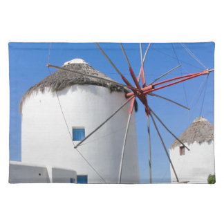 Winmills on Mykonos Island, Greece Placemat