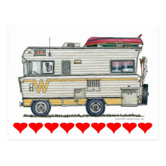 Winnebago Camper RV Apparel Postcard