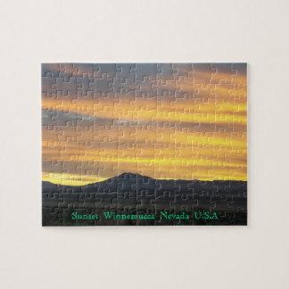 Winnemucca Nevada sunset seen Jigsaw Puzzle