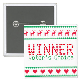 Winner Button for Tacky Sweater Party