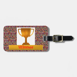 WINNER Cup  (Change text to your own) Luggage Tag