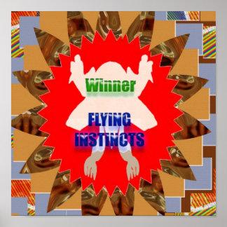 WINNER FLYING INSTINCTS :  Reward Excellence Merit Print