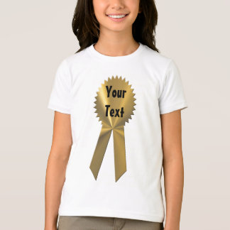 Winner Gold Medal Ribbon T-Shirt