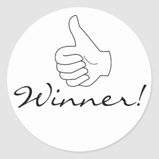 Winner Thumbs Up Stickers