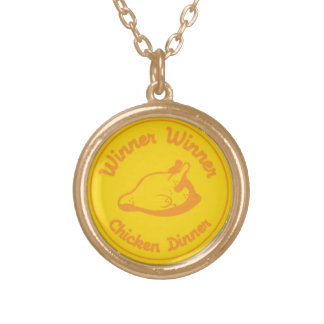 Winner Winner Chicken Dinner Gold Plated Necklace