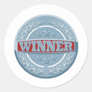 Winners award badge round stickers
