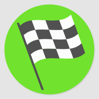 Winners Flag Emoji Classic Round Sticker