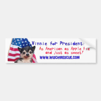 Winnie for President (Bumper Sticker) Bumper Sticker