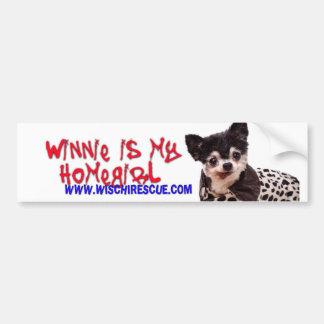 Winnie is my Homegirl (Bumper Sticker) Bumper Sticker