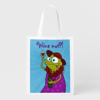 Winnie loves wine, reusable bag