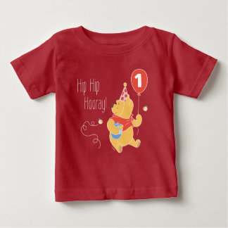 Winnie the Pooh | Baby Girl - First Birthday Baby T-Shirt