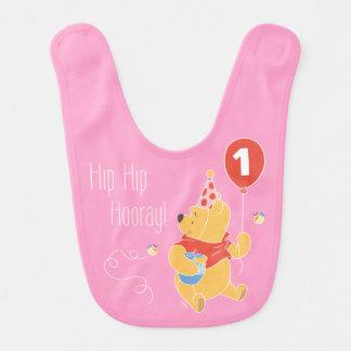 Winnie the Pooh | Baby Girl - First Birthday Bib
