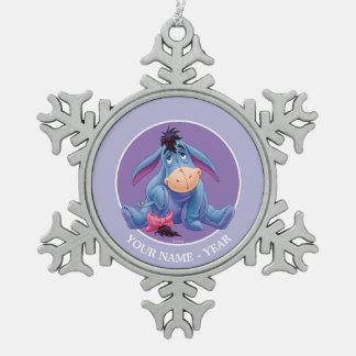 Winnie the Pooh | Eeyore Smile Snowflake Pewter Christmas Ornament