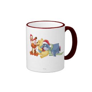 Winnie The Pooh & Friends Holiday Ringer Coffee Mug