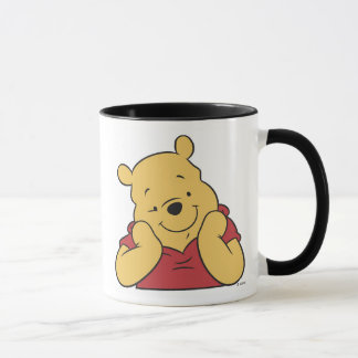 Winnie the Pooh hands on face smiling