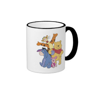 Winnie the Pooh Pooh Piglet Tigger Eeyore Ringer Coffee Mug