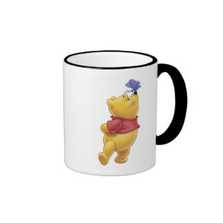 Winnie the Pooh With Butterfly Ringer Mug