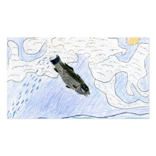 Winning art by  J. Osterday - Grade 6 Business Card Templates