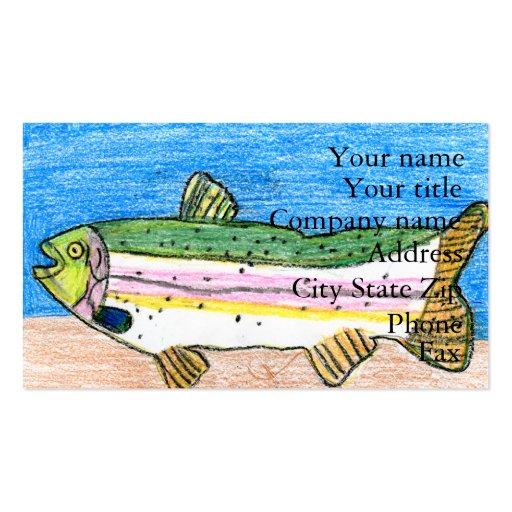 Winning art by  N. Rule - Grade 5 Business Card Templates