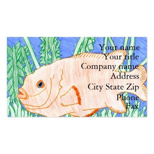 Winning art by  R. Struve - Grade 4 Business Card Templates