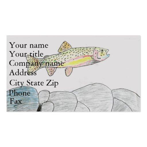 Winning artwork by B. Frye, Grade 6 Business Cards