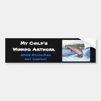 Winning artwork by B. Jenkins, Grade 12 Bumper Sticker