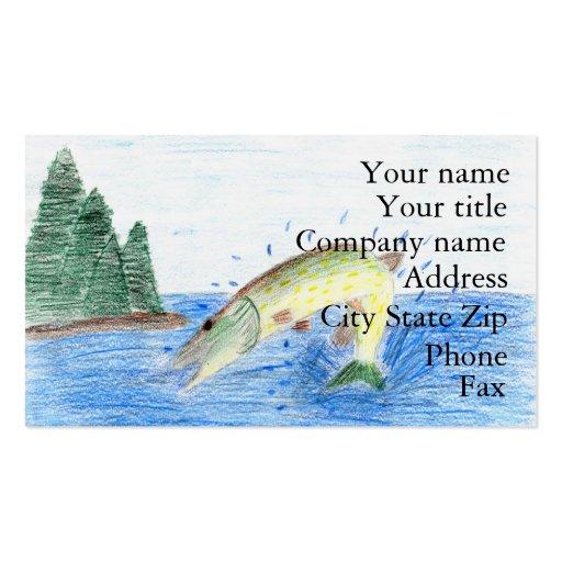 Winning artwork by C. Dahlen, Grade 7 Business Card Template