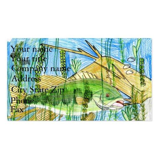 Winning artwork by C. Durler, Grade 6 Business Card Templates