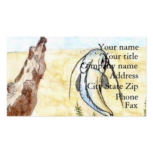Winning artwork by C. Hagan, Grade 5 Business Card