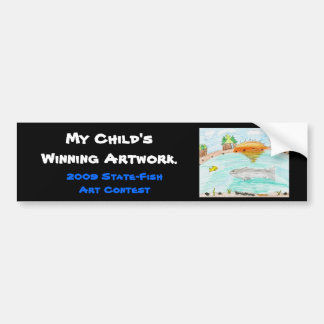 Winning artwork by C. Rousseau, Grade 4 Bumper Sticker