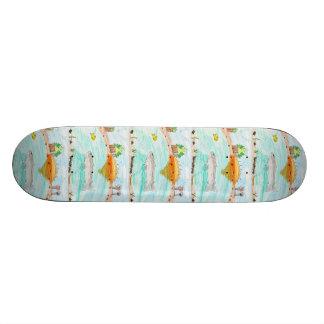 Winning artwork by C. Rousseau, Grade 4 Custom Skateboard