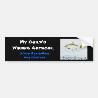 Winning artwork by E. Branton, Grade 5 Bumper Sticker