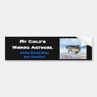 Winning artwork by E. Zhang, Grade 6 Bumper Sticker