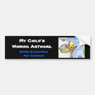 Winning artwork by K. Gill, Grade 9 Bumper Sticker