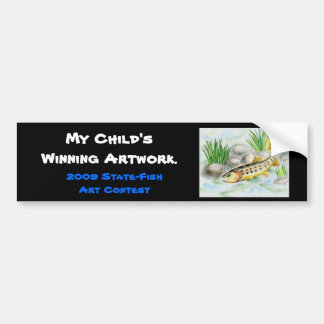 Winning artwork by K. Lu, Grade 6 Bumper Sticker