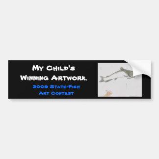 Winning artwork by S. Dean, Grade 5 Bumper Sticker