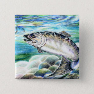 Winning artwork by S. Kang, Grade 11 2 Inch Square Button
