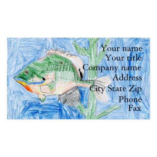 Winning artwork by S. Karch, Grade 4 Business Card