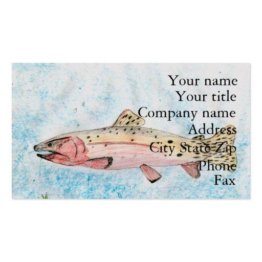 Winning artwork by T. Homan, Grade 5 Business Card Templates