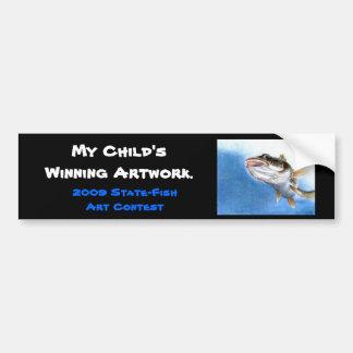 Winning artwork by V. Gindele, Grade 12 Bumper Sticker
