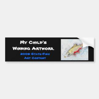 Winning artwork by Z. Xie, Grade 11 Bumper Sticker