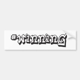 #WINNING BUMPER STICKER