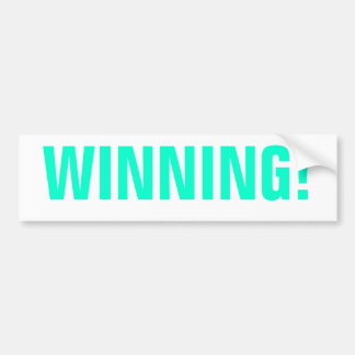 WINNING! BUMPER STICKER