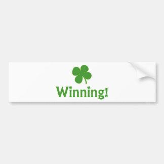 Winning Charlie Sheen St Patrick s Day Bumper Sticker