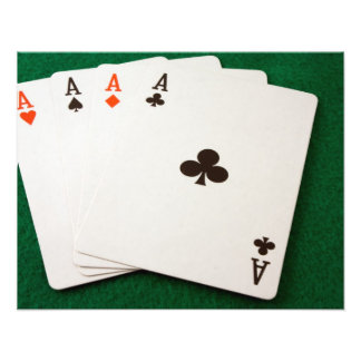 Winning Hand Four Aces Photo Art