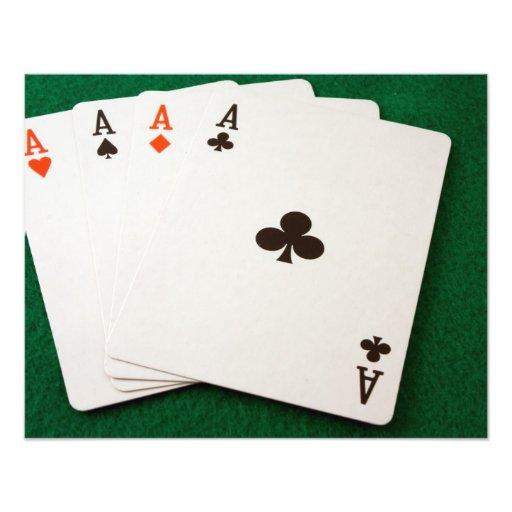 Winning Hand Four Aces Photo Art