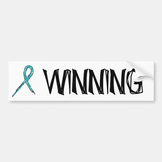 Winning - Ovarian Cancer - Sheen Bumper Sticker
