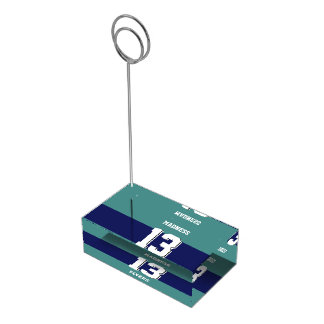 Winning team table card holder