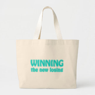 Winning the new losing large tote bag